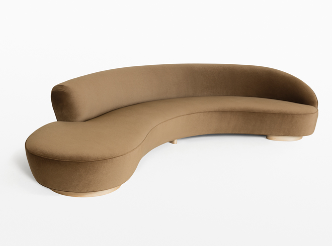 Charmant Free Form Curved Sofa With Arm