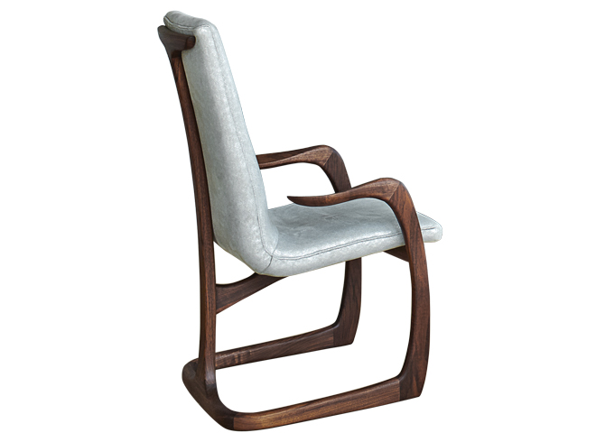 Formal Tiger Oak T Back Vase Dining Room Chairs Finish Ebay Vladimir Kagan Seating Arm Chair