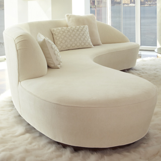 Vladimir Kagan Seating Free Form Curved Sofa With Arm
