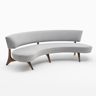 Floating Curved Sofa